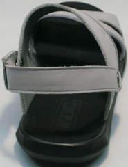 Кожаные мужские сандалии с открытой пяткой Ikoc 3294-3 Gray.