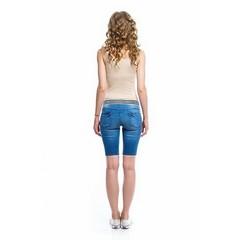 Шорты джинсовые удлиненные цвет деним