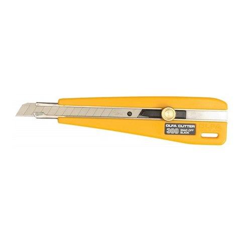 Нож OLFA с выдвижным лезвием с фиксатором, 9мм
