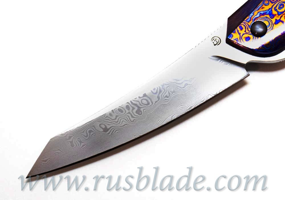 Cheburkov Full Custom Cobra Timascus Damascus knife - фотография
