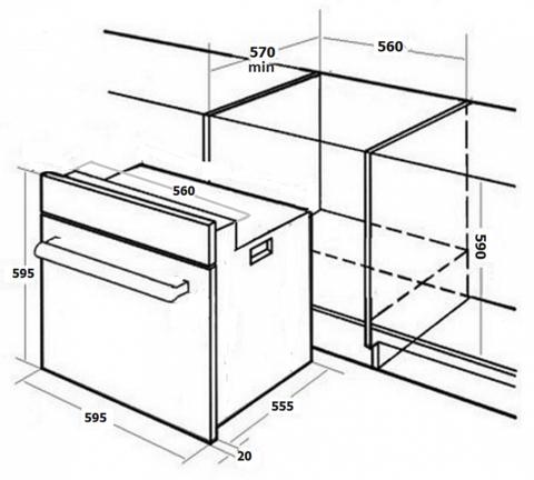 Духовой шкаф MONSHER MOER 6091 C
