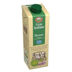 Молоко Село Зеленое питьевое ультрапастеризованное 2.5% 950 г