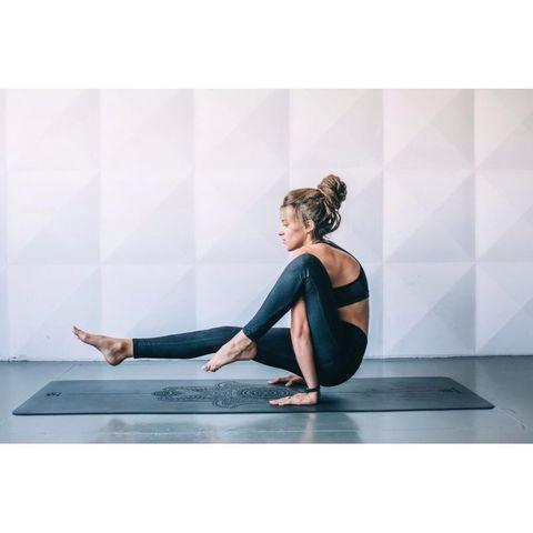 Каучуковый йога коврик для йоги Hamsa ART 185*68*0,4 см