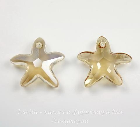 6721 Подвеска Сваровски Морская Звезда Crystal Golden Shadow (16 мм) ()