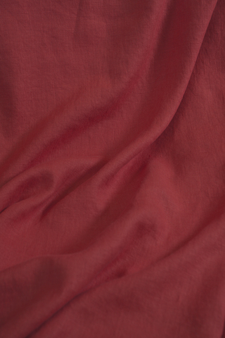 Ткань льняная, с эффектом мятости, красный