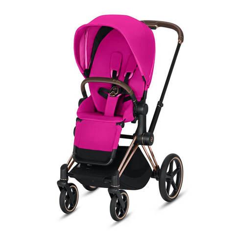 Прогулочная коляска Cybex Priam III Fancy Pink шасси Rosegold