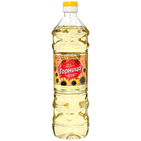 Масло подсолнечное Горница МИНИМАРКЕТ 1л
