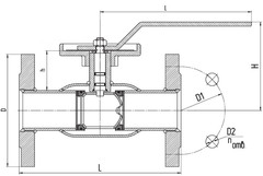 Схема LD КШ.Ц.Ф.Regula 040.040.02 Ду40 регулирующий
