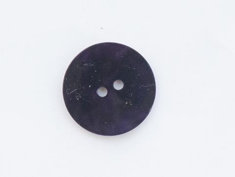 Пуговица перламутровая, тёмно-фиалковая, 22 мм