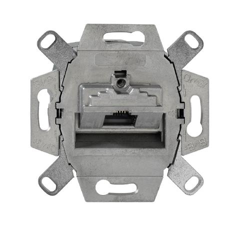 Механизм компьютерной розетки розетки RJ45, категория 6е, неэкранированная. Цвет Естественный. ABB (АББ). 0230-0-0469