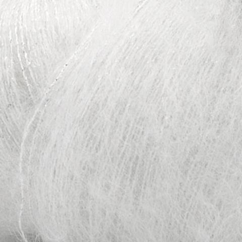 Пряжа Silk Mohair Lux (Силк Мохер Люкс). Цвет: белый. Артикул: 6027