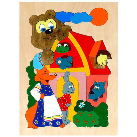 Мозаика-вкладыш Теремок, Крона 143-019