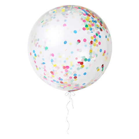 Воздушные шары с конфетти, пастель, бол.