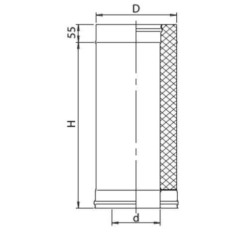 Сэндвич 1,0м (430/0,8мм + оц.) Ф150х250