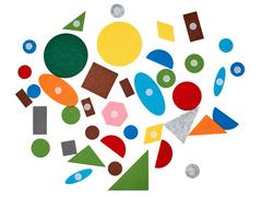 Изучаем геометрические фигуры с игрой Коврик-мозаика Сказочная поляна, Smile Decor