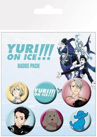 Набор значков YURI ON ICE