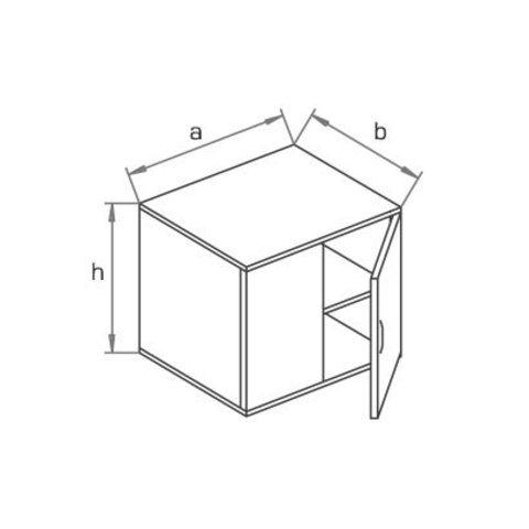 Антресоль (глубина 60 см) МОНО-ЛЮКС