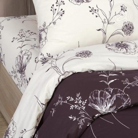 Комплект постельного белья Каролина DE LUXE с простынью на резинке