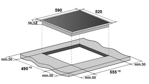 Варочная поверхность MONSHER MHI 6006
