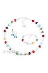 Комплект Carnavale Argento (голубые серьги на серебре, ожерелье, браслет)