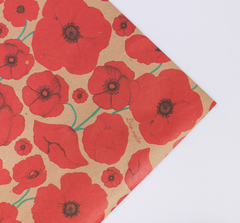 Крафт бумага с дизайном. 100*70 см.