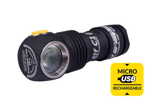 Мультифонарь светодиодный Armytek Elf C1 Micro-USB+18350, 980 лм, теплый свет, аккумулятор*