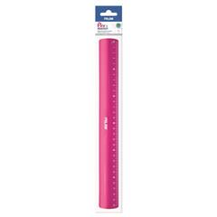Линейка Milan 30 см пластиковая розовая