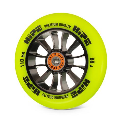 желтое колесо для трюкового самоката 110 мм