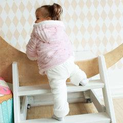 Папитто. Комплект утепленный куртка и брюки, розовый/экрю вид 6
