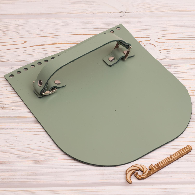 """Вся фурнитура Клапан для сумочки с ручкой кожаный """"Фисташка"""" IMG_4329.JPG"""