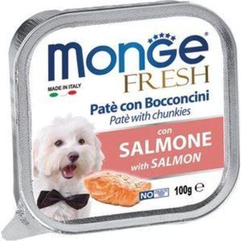 Monge Dog Fresh консервы для собак (лосось) 100г