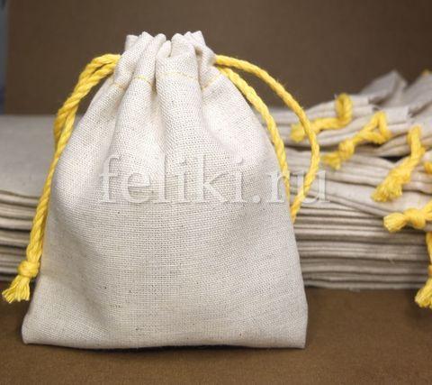 мешочек из натуральной ткани для хранения урашений