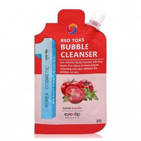 Пузырьковая детокс-пенка с керамидами EYENLIP RED TOKS BUBBLE CLEANSER
