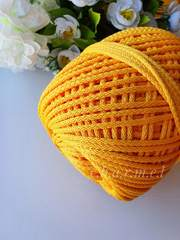 Ярко желтый Полиэфирный шнур 5 мм
