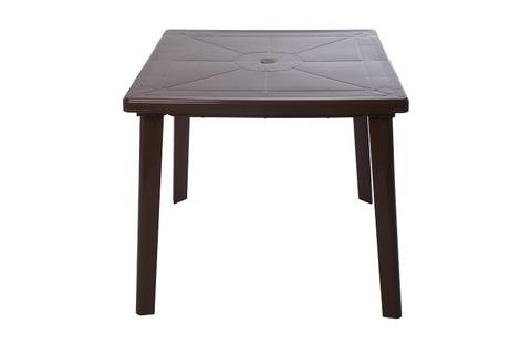 Пластиковый квадратный стол шоколадный