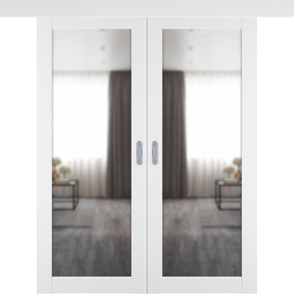 Двери с зеркалом Межкомнатная двустворчатая дверь купе Emalex VFD 32 ice с зеркалом с одной стороны emalex-32-ice-mirror.jpg