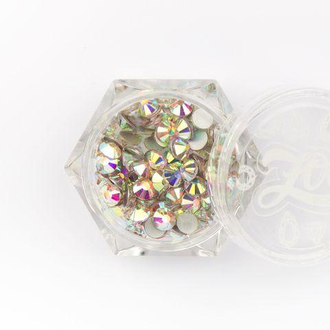 Стразы стеклянные прозрачные AB голография SS16 (4 мм) 100 шт (1092)