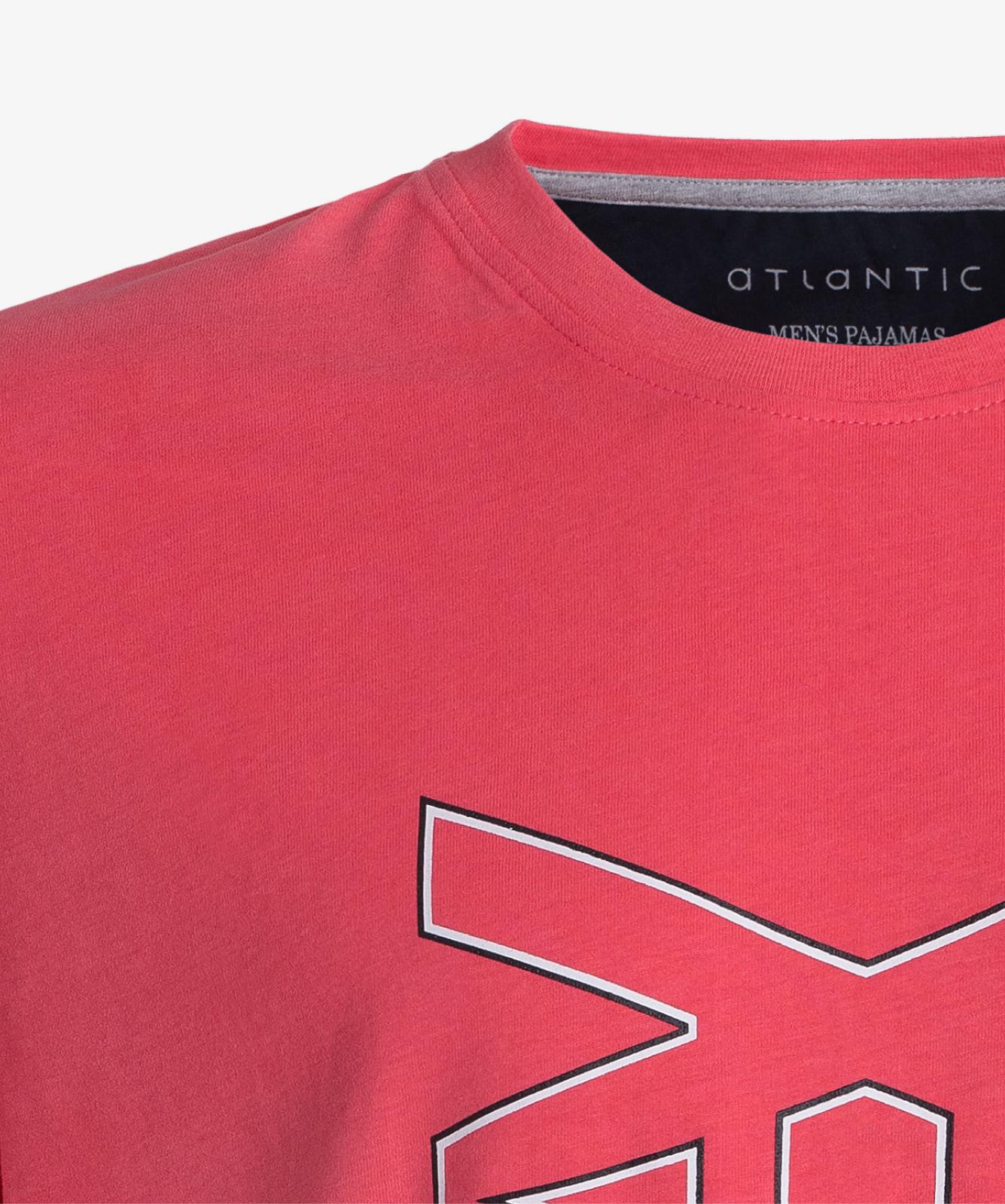Мужская пижама Atlantic, 1 шт. в уп., хлопок, темно-коралловая, NMP-344