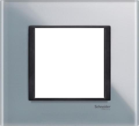 Рамка на 1 пост. Цвет Матовое стекло. Schneider electric Unica Class. MGU68.002.7C3