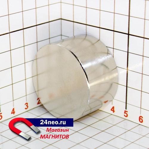Неодимовый магнит диск 45х25 мм