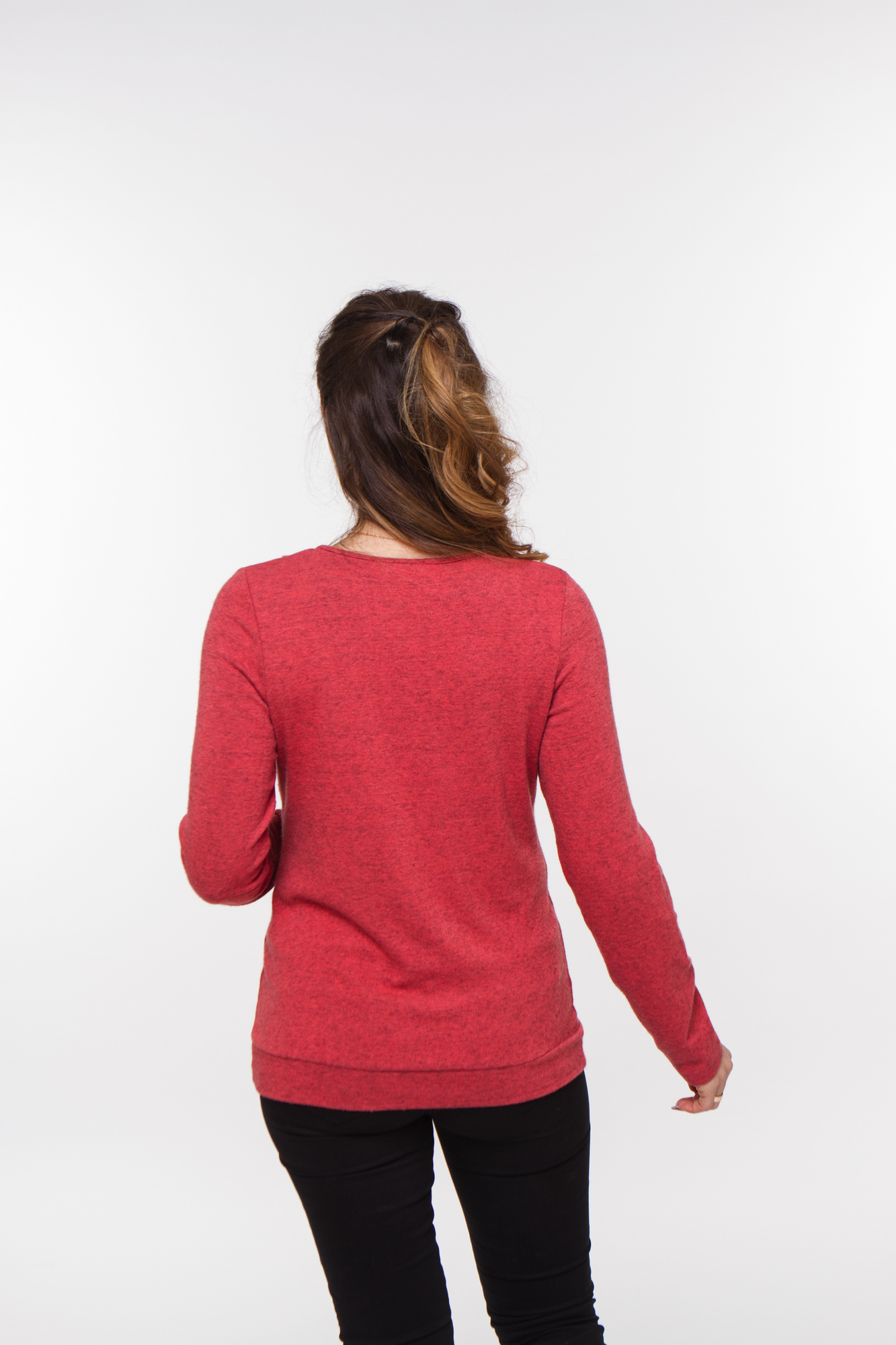 Джемпер для беременных и кормящих 01832 красный