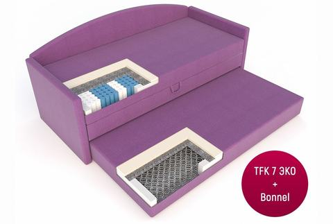 Односпальная Кровать-софа «Оксфорд» с ящиком для белья и дополнительным спальным местом