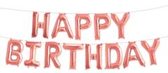 Фольгированная надпись HAPPY BIRTHDAY розовое золото