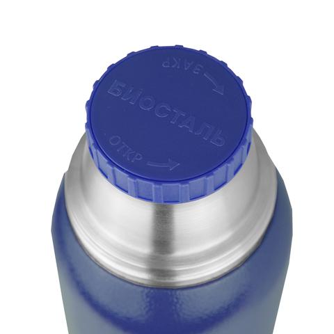 Термос Biostal Охота (0,75 литра), 2 чашки, синий