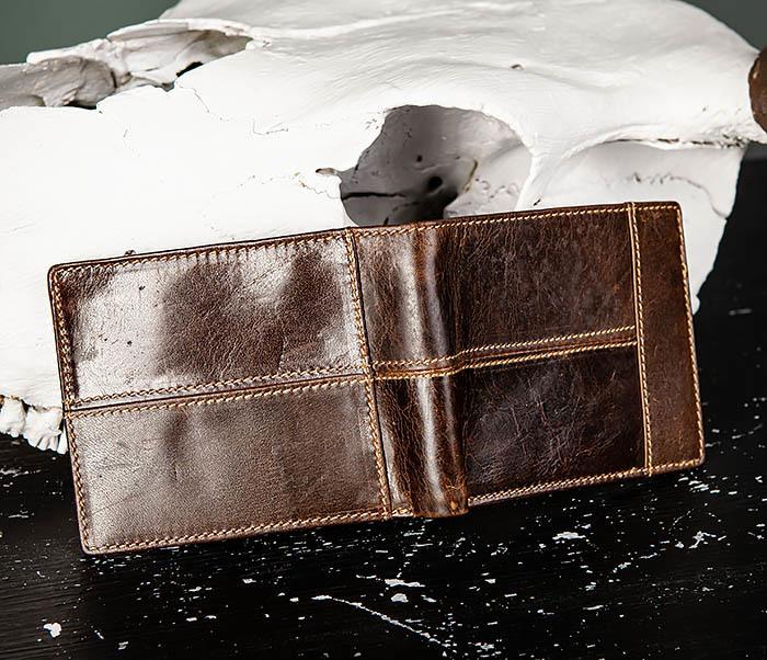 WL329-2 Вместительное мужское кожаное портмоне с монетницей фото 04