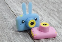 Детский игрушечный фотоаппарат Заяц силиконовый