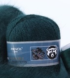 Пряжа Пух норки 805 темно-зеленый