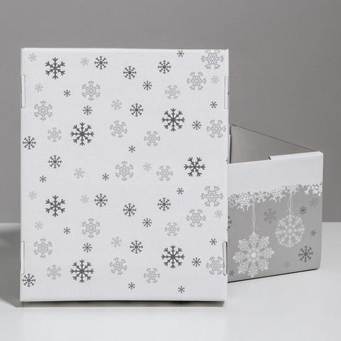 Складная коробка Let it snow, 31,2х25,6х16,1см