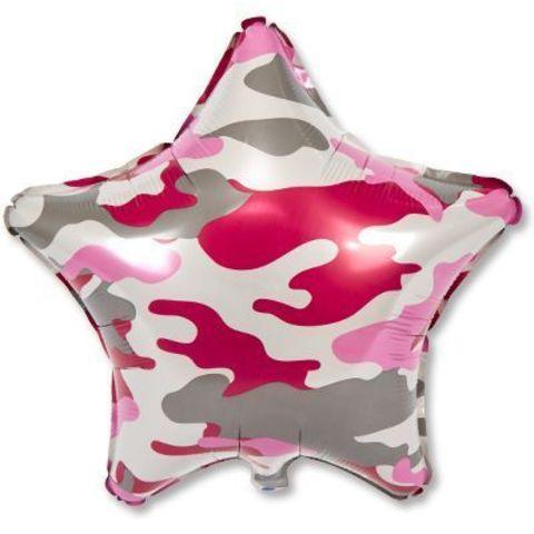 Звезда Камуфляж милитари розовый, 45 см