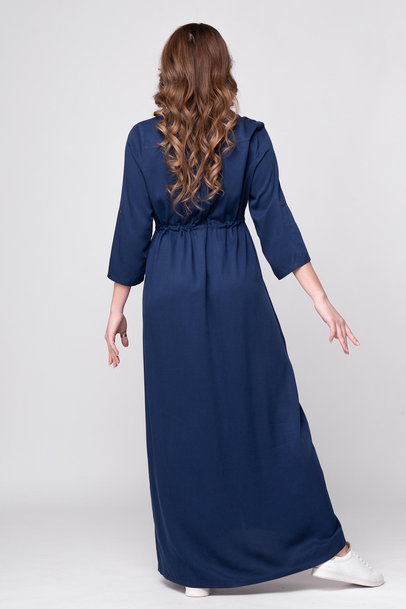 Платье для беременных 09450 синий